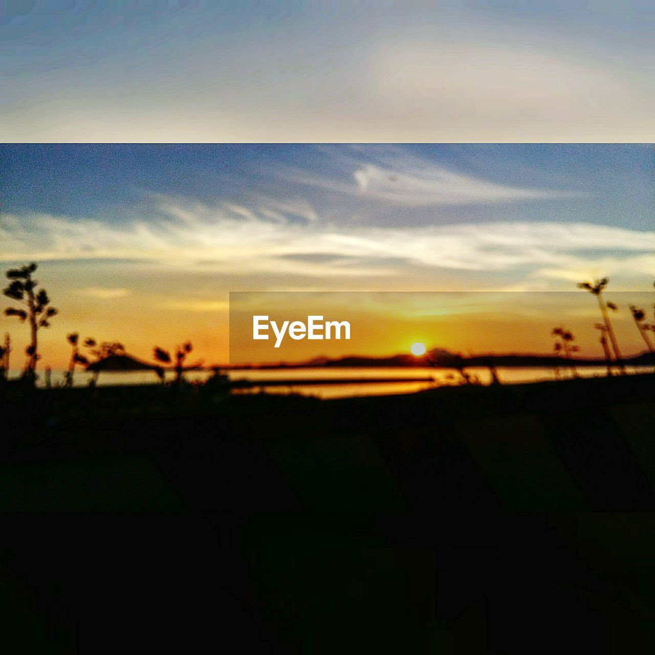 sunset, silhouette, nature, field, sky, tranquility, no people, beauty in nature, scenics, landscape, outdoors