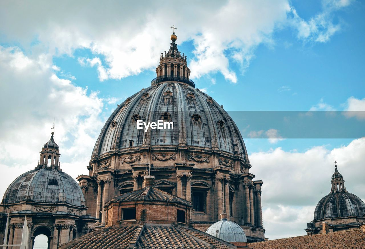 Low Angle View Of St Peter Basilica