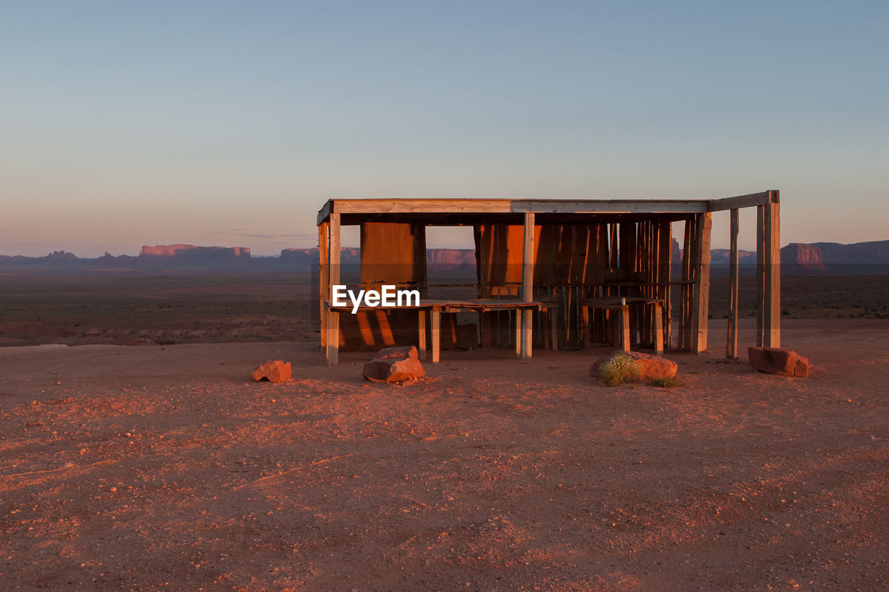 Built Structure At Monument Valley