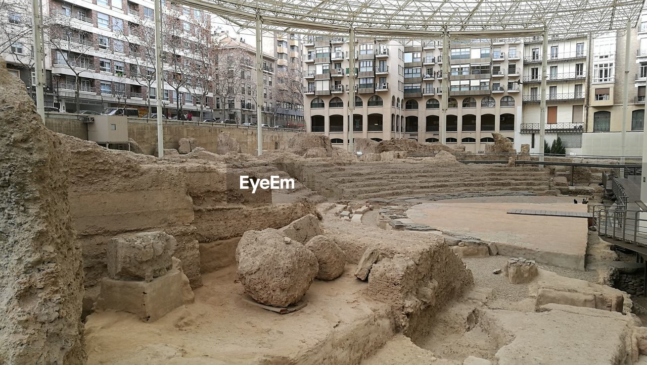 architecture, built structure, building exterior, indoors, no people, industry, day, rubble, ancient civilization