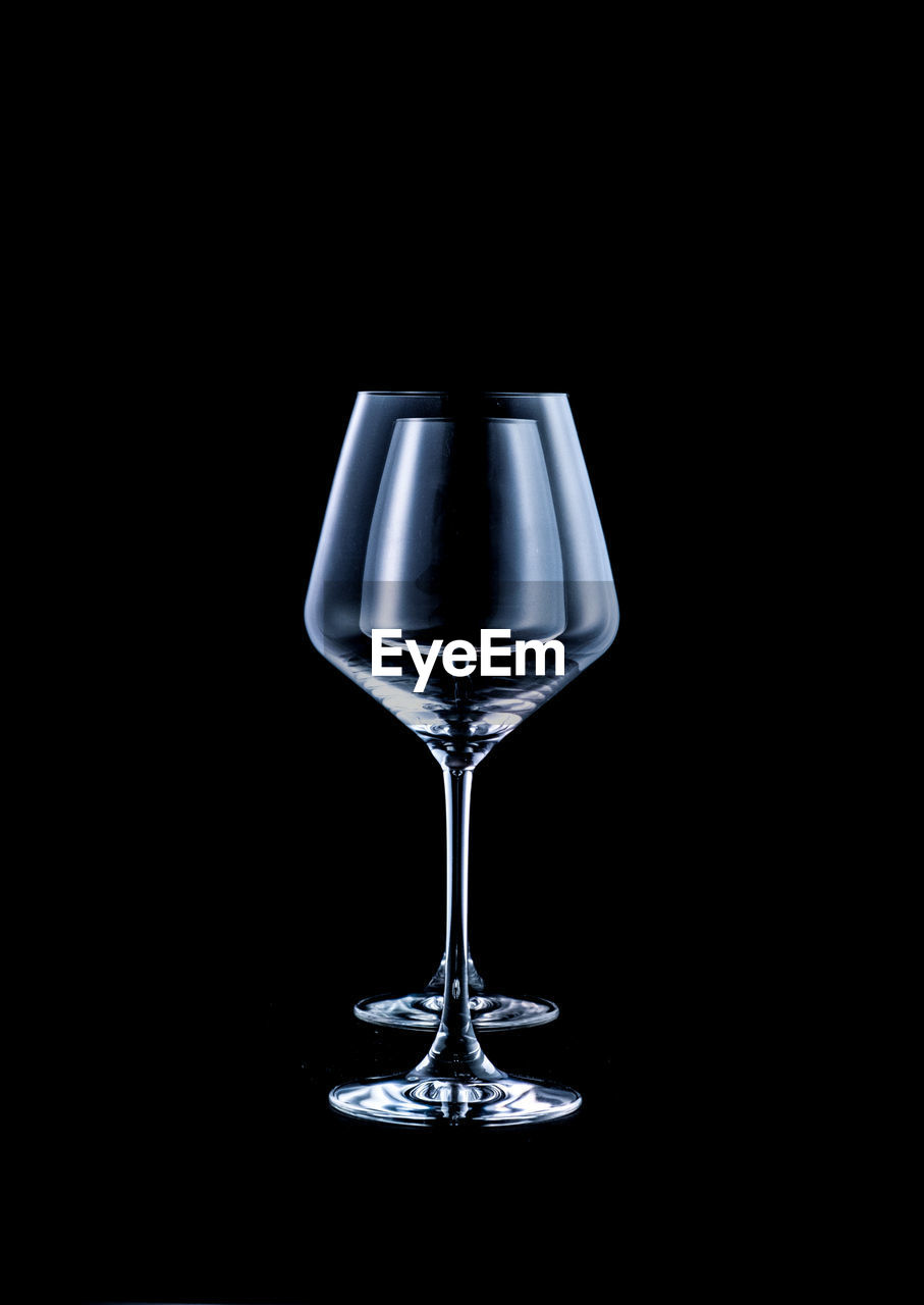 Abstract wine glass shape composition