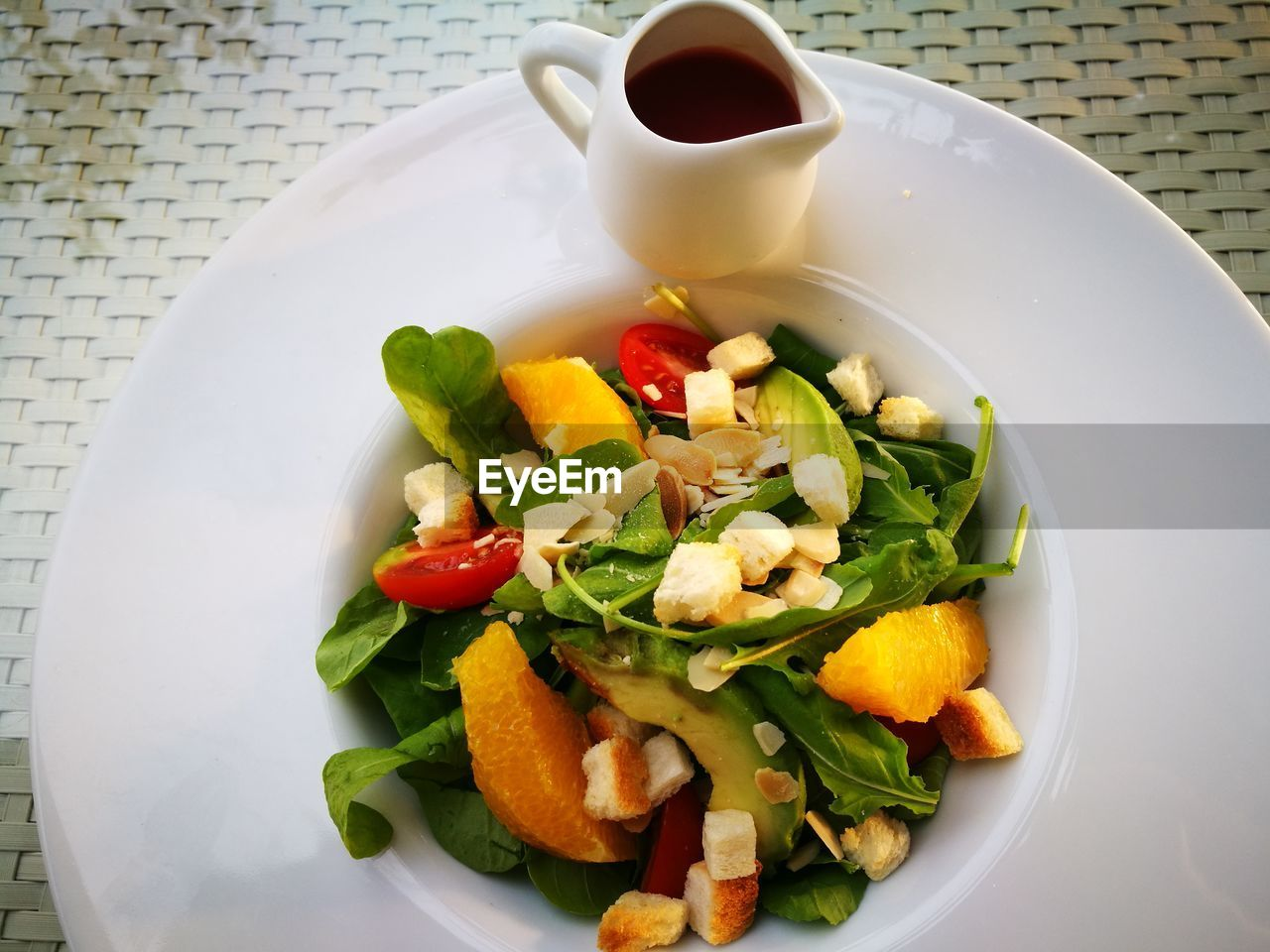 food and drink, plate, food, freshness, healthy eating, high angle view, vegetable, table, salad, serving size, ready-to-eat, indoors, no people, bowl, close-up, day