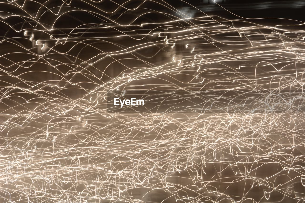 Abstract Image Of Light Trails At Night