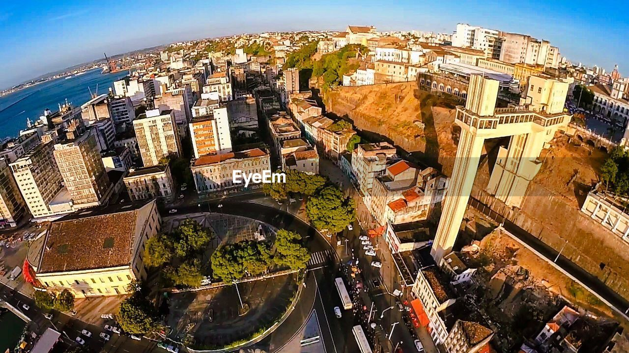 High angle view of cityscape
