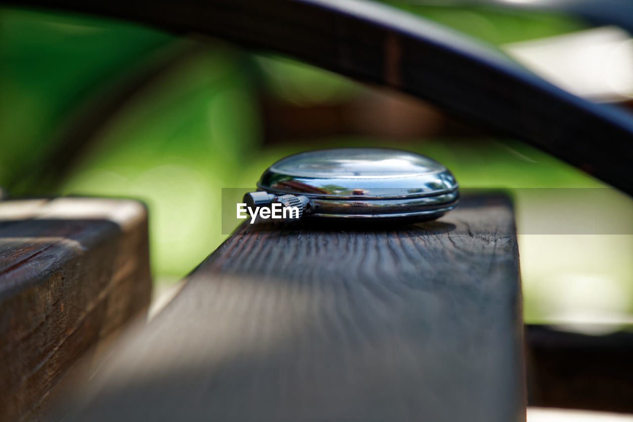 Stopwatch on bench - timeless concept