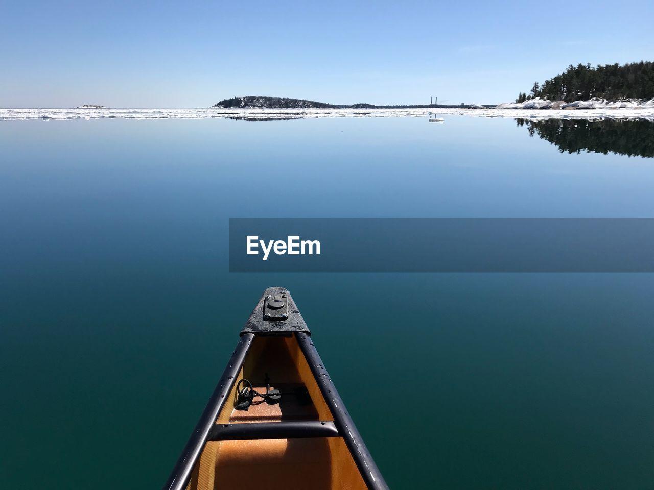 Boat On Calm Lake