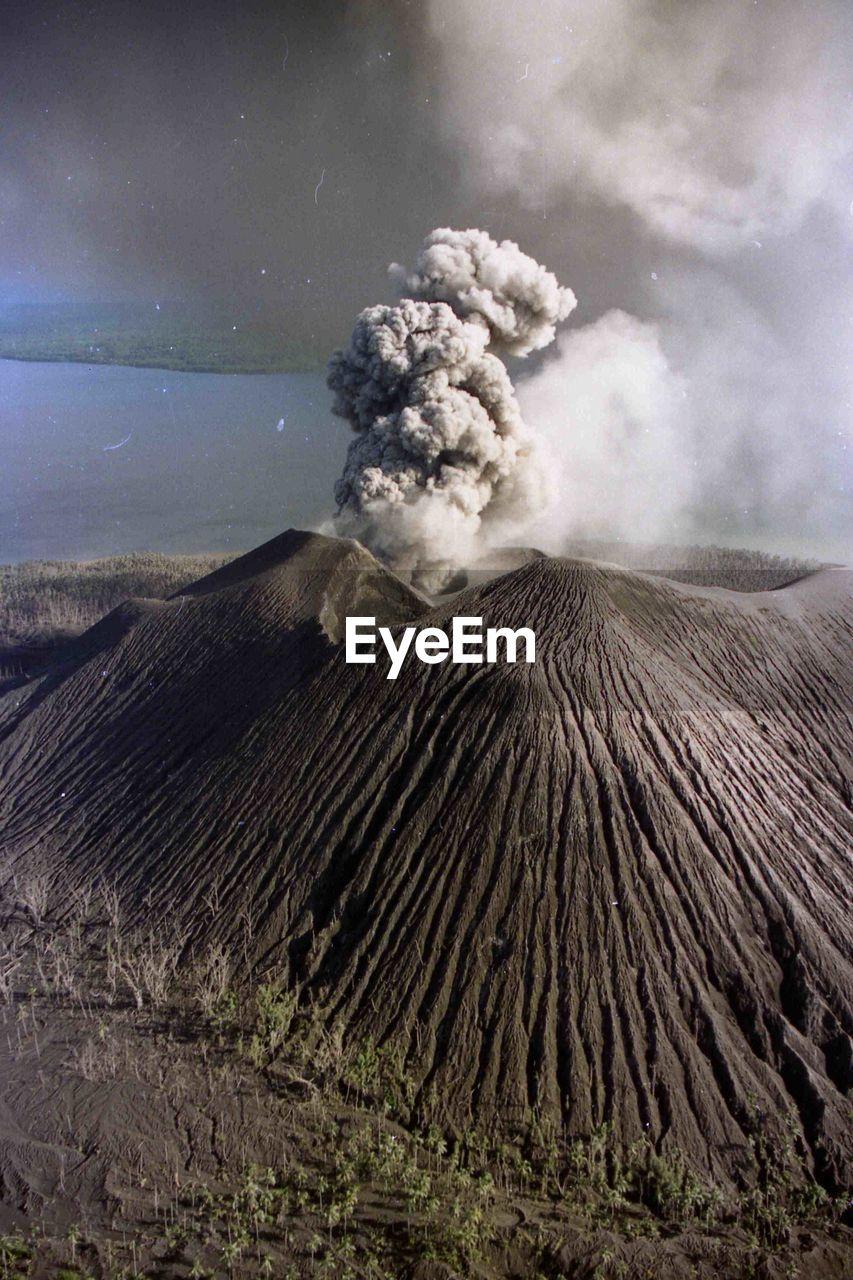 Smoke Erupting From Mt Bromo