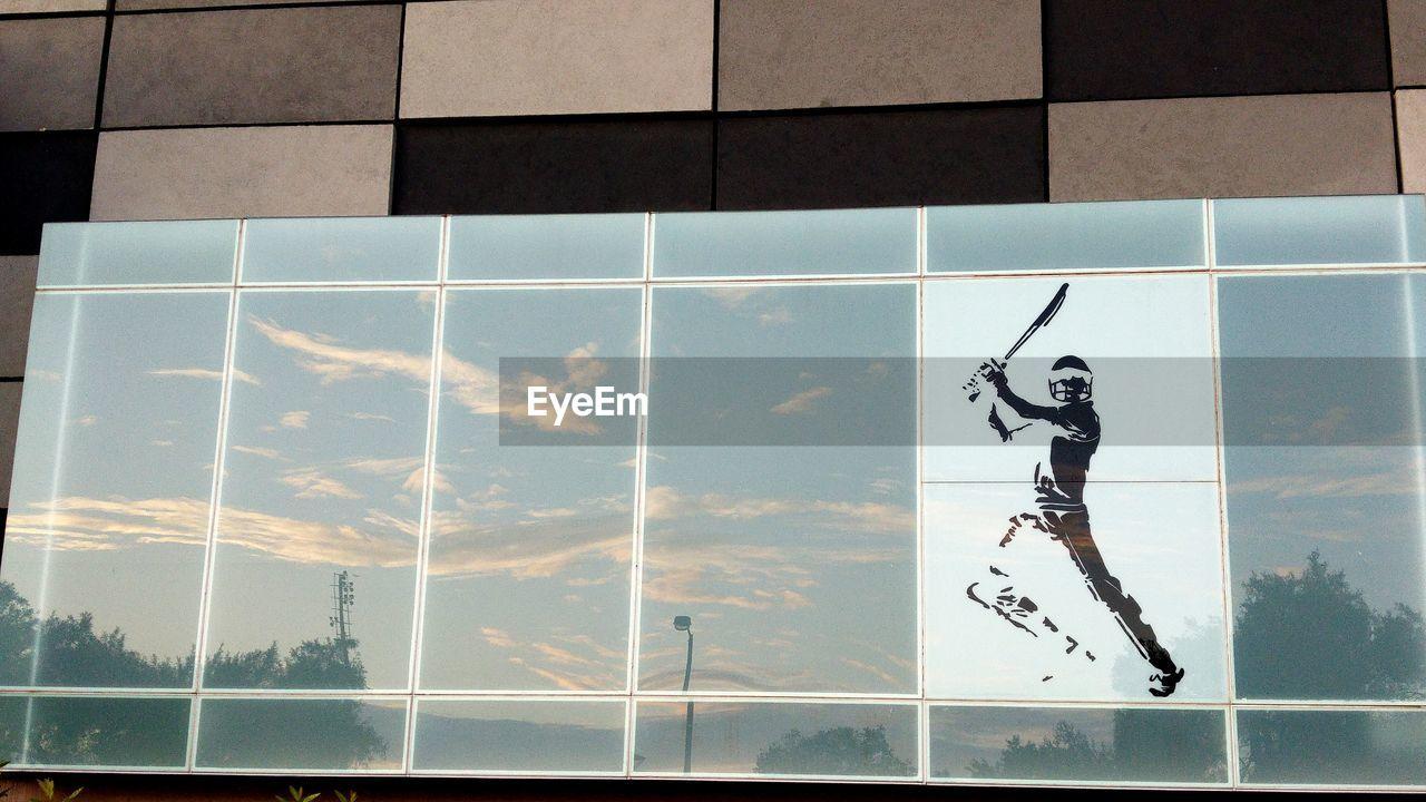 Reflection Of Sky On Glass