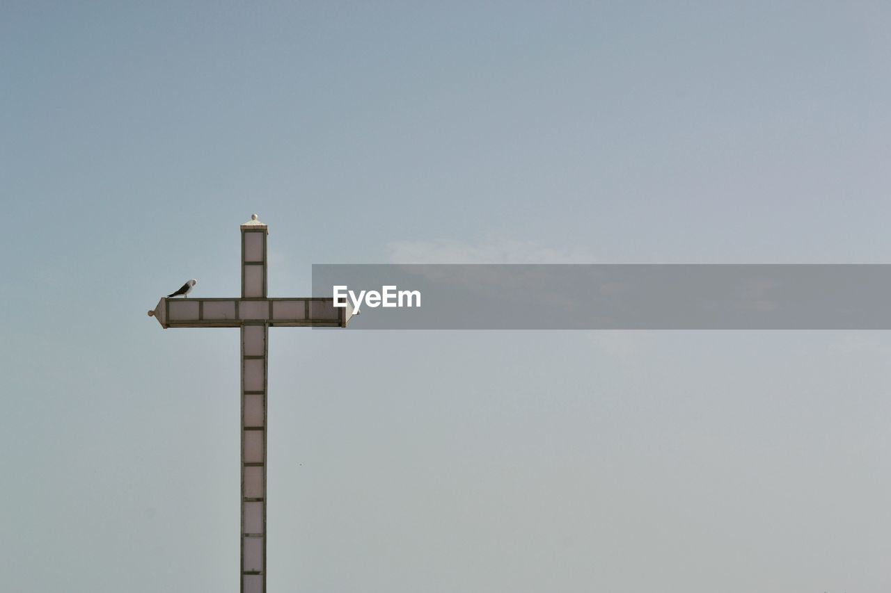 cross, religion, copy space, no people, sky, day, low angle view, outdoors