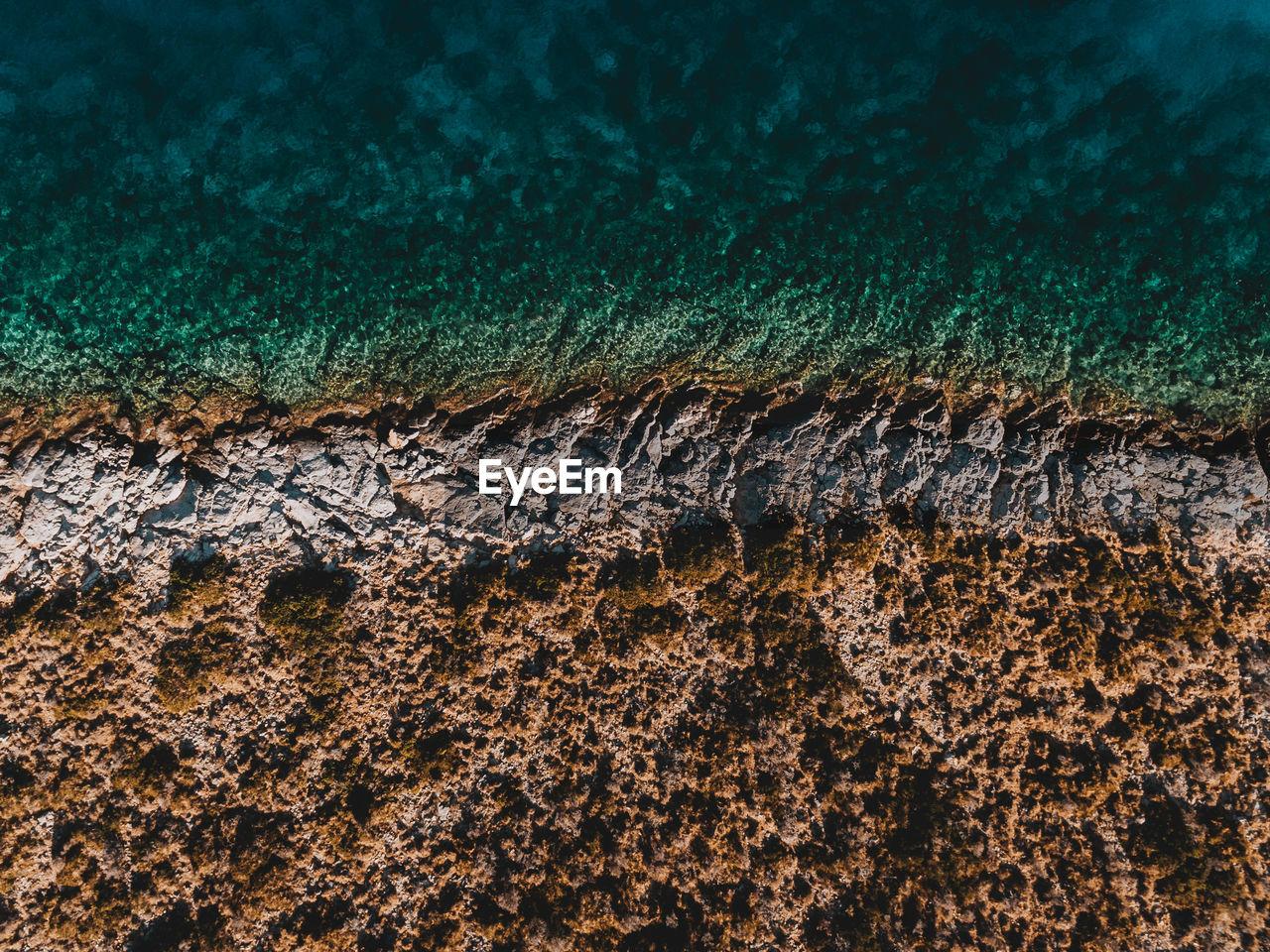 Aerial View Of Sea Shore