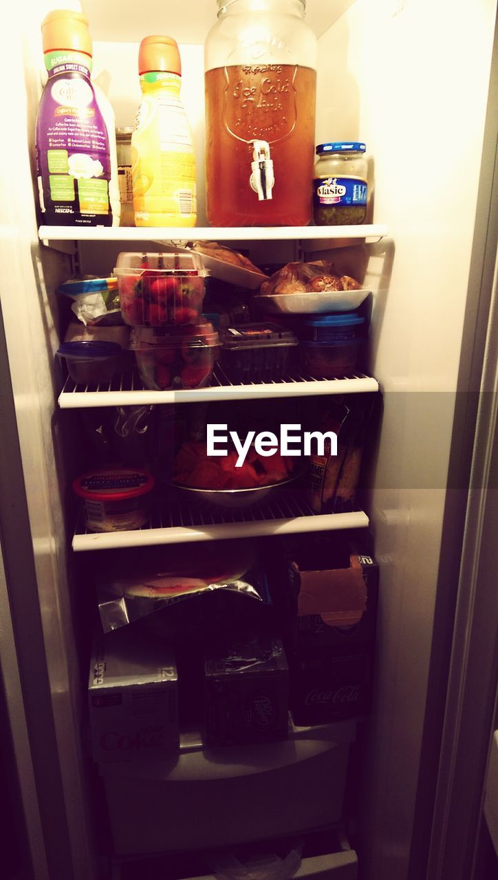 choice, refrigerator, indoors, shelf, variation, no people, food, food and drink, drink, sweet food, freshness, day