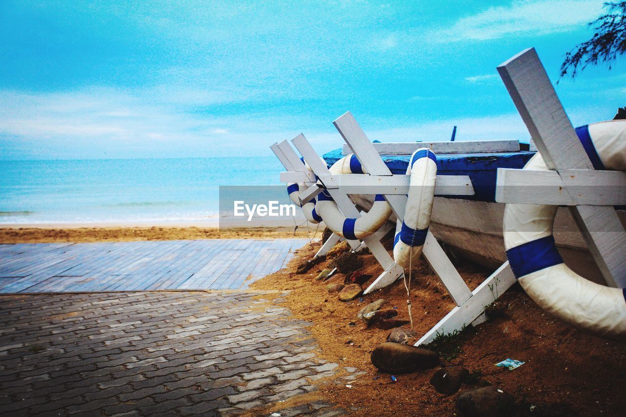 sea, beach, water, horizon over water, sky, sand, day, outdoors, nature, cloud - sky, technology, scenics, beauty in nature, no people, nautical vessel
