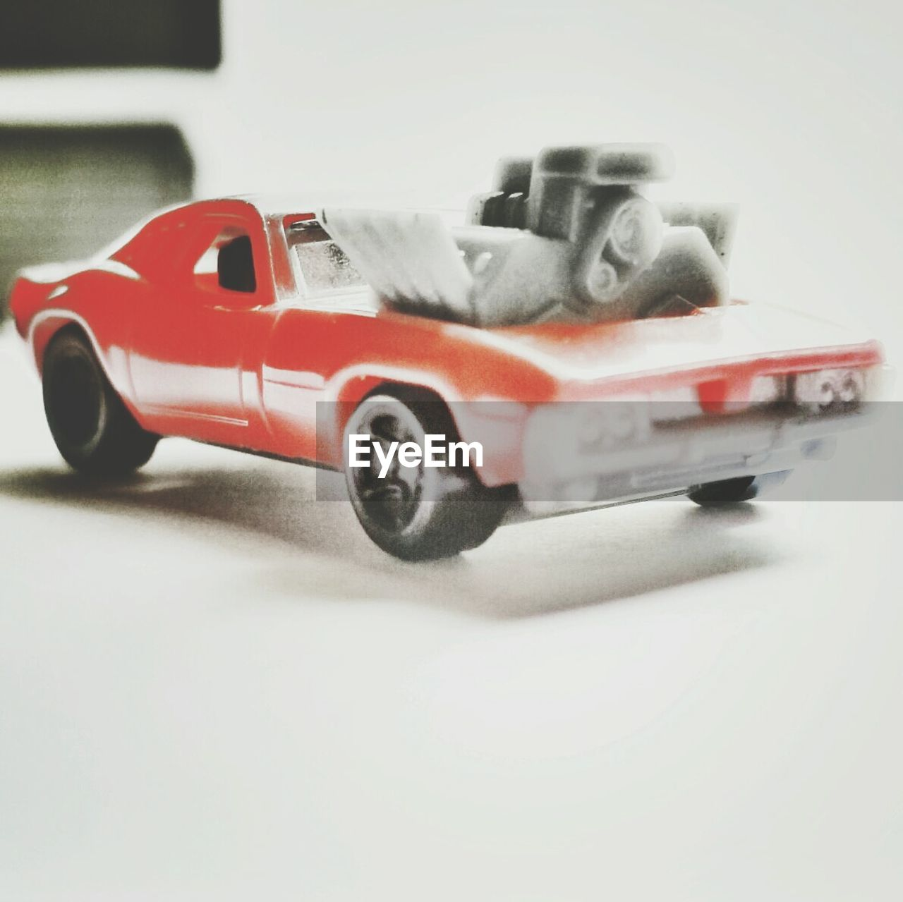 toy, toy car, childhood, car, transportation, plastic, land vehicle, red, no people, studio shot, close-up, racecar, white background, day