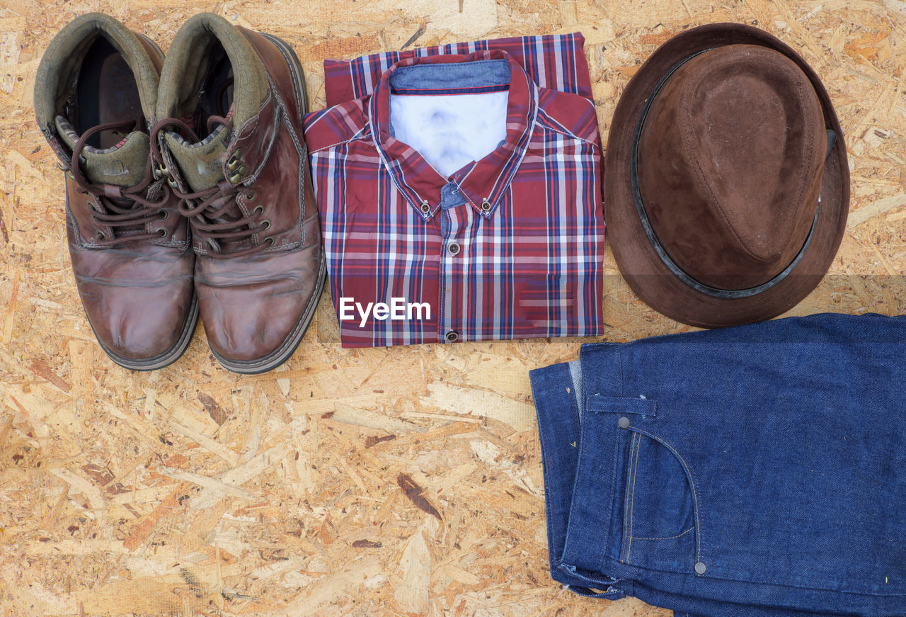 shoe, clothing, casual clothing, fashion, belt, pair, backpack, day, no people, indoors