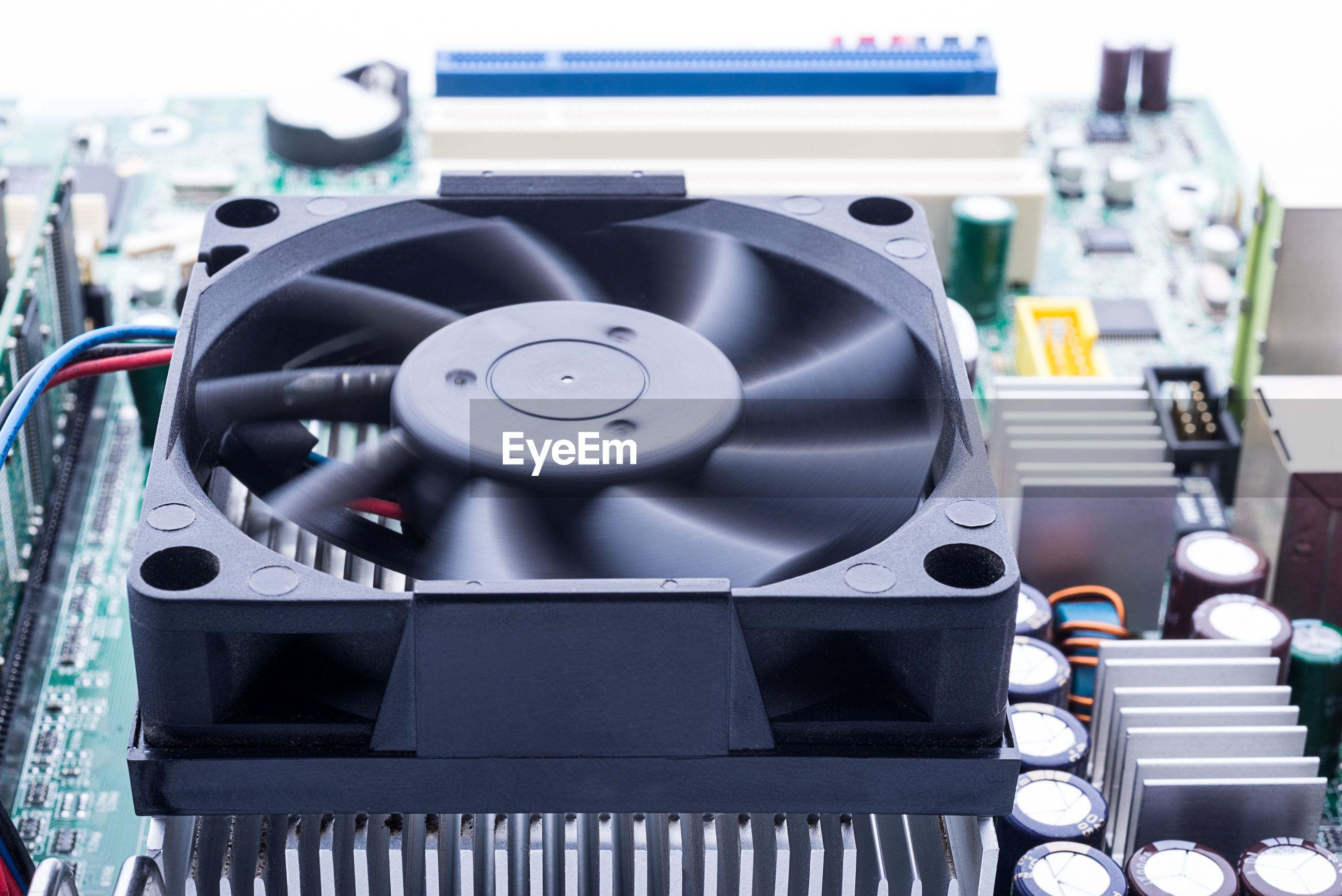 Close up of mother board