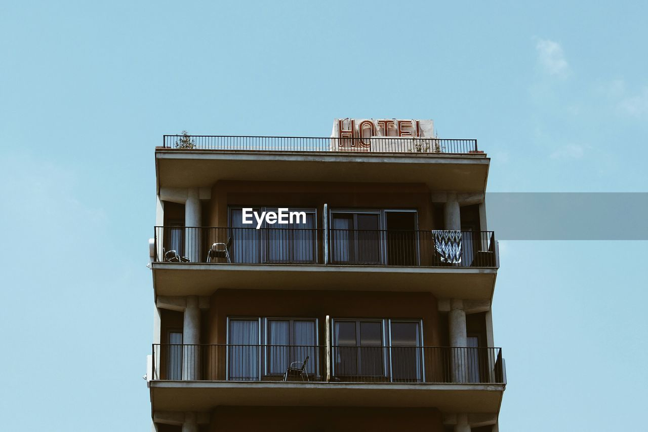 Low Angle View Of Hotel Against Sky