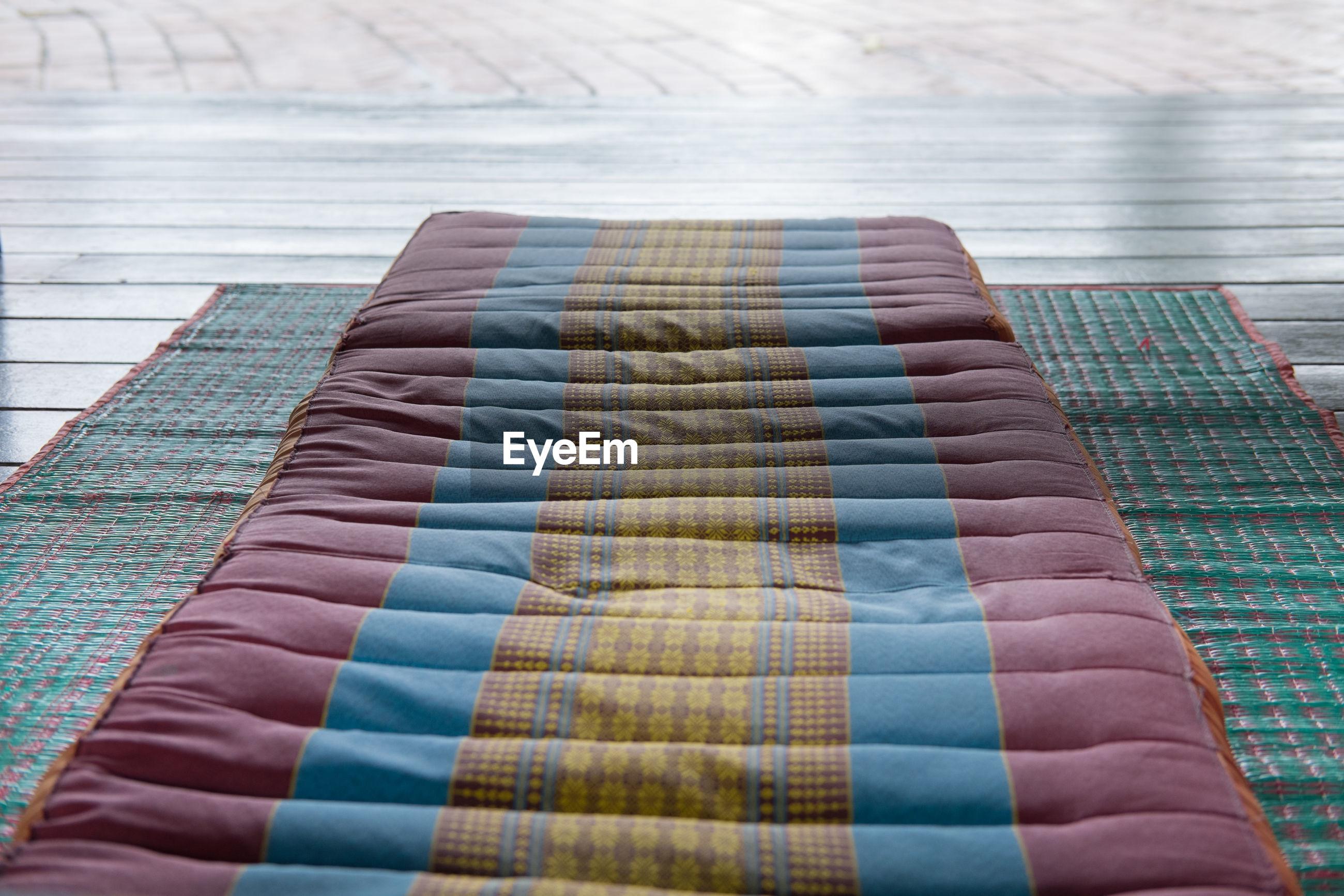 View of mattress on floor