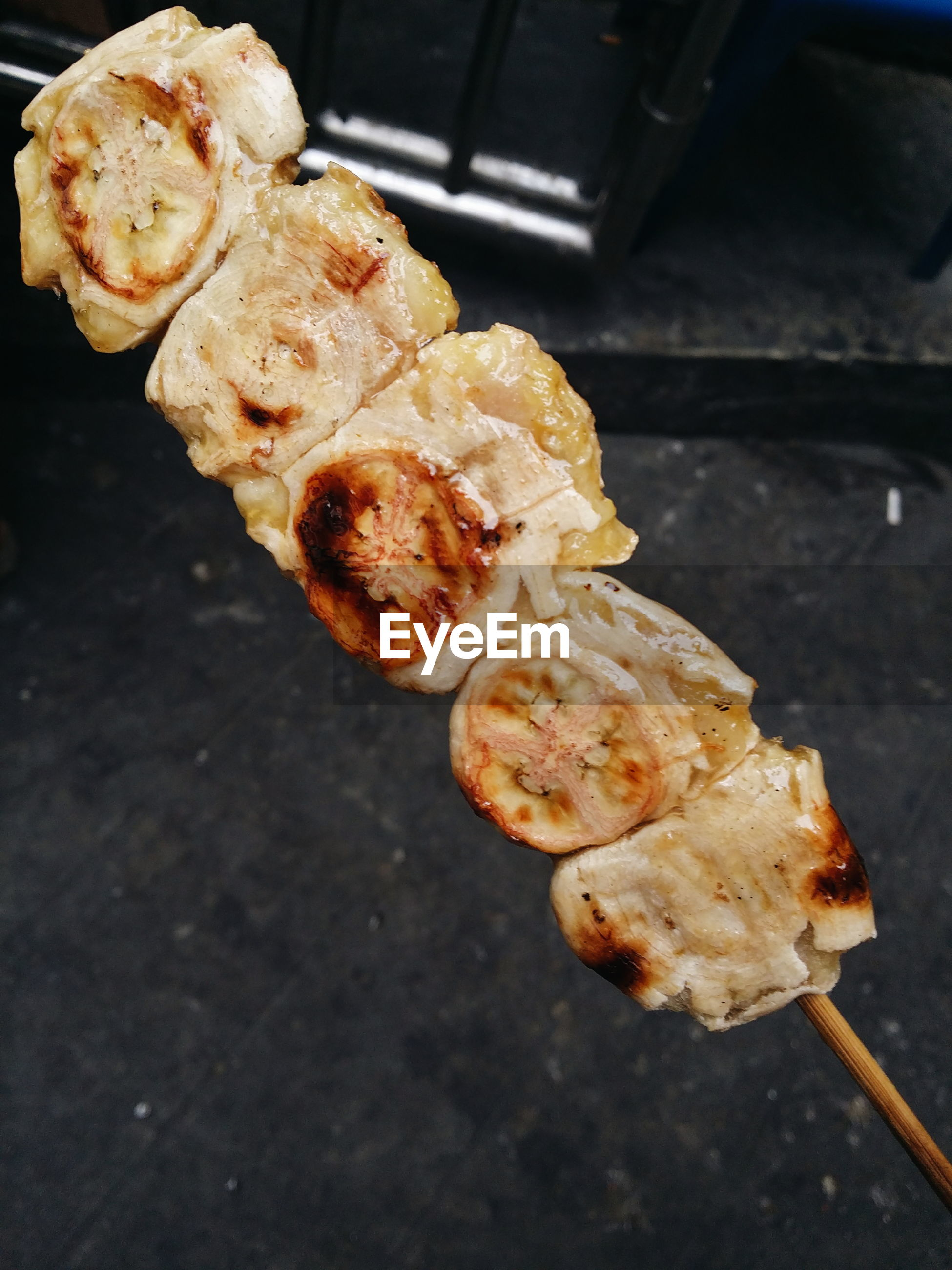 Close-up of food with skewer