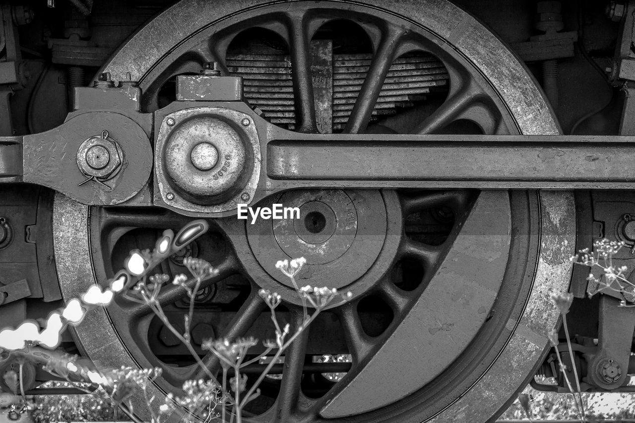 Close-Up Of Train Wheel