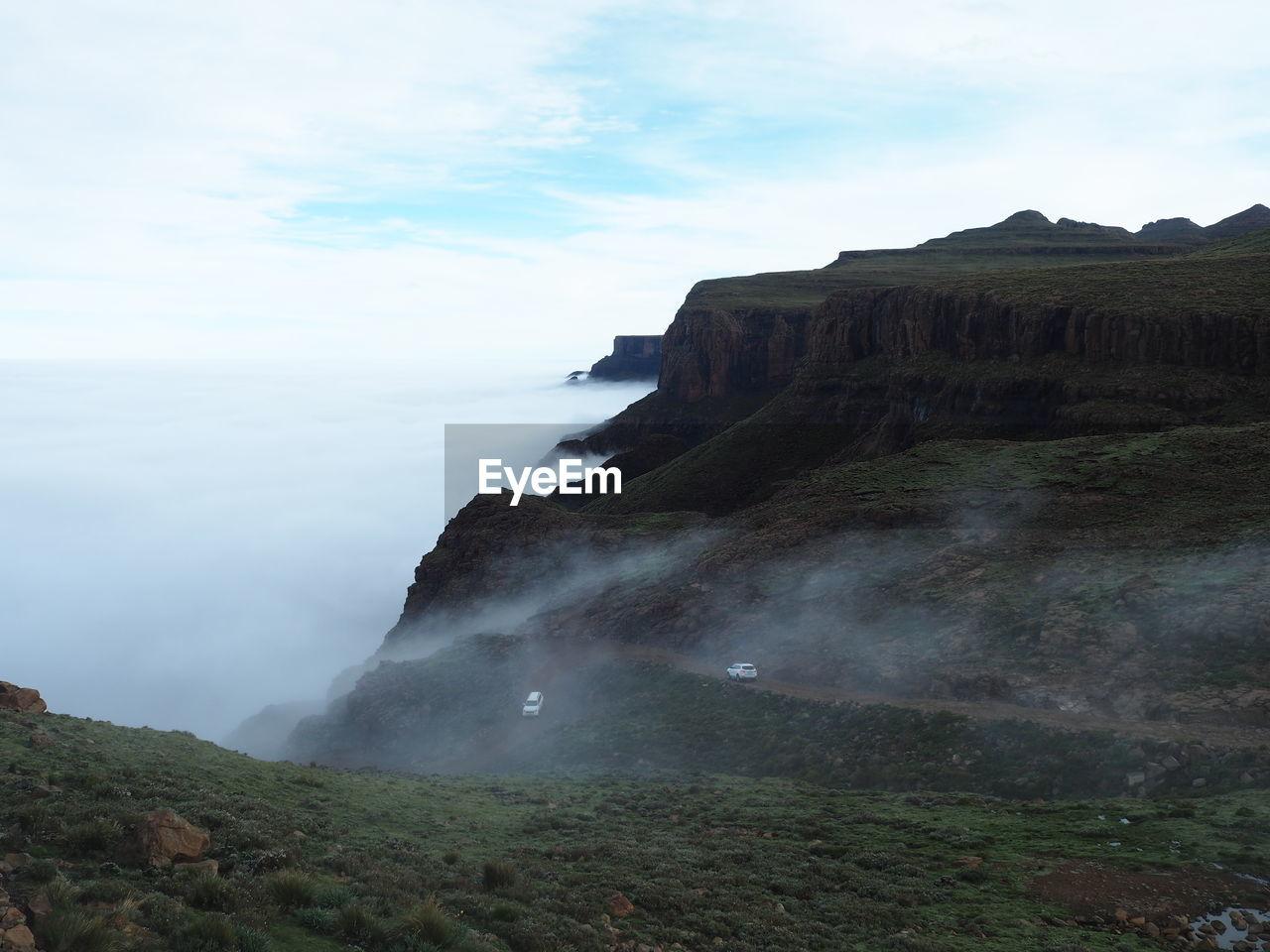 Sani pass and the fog