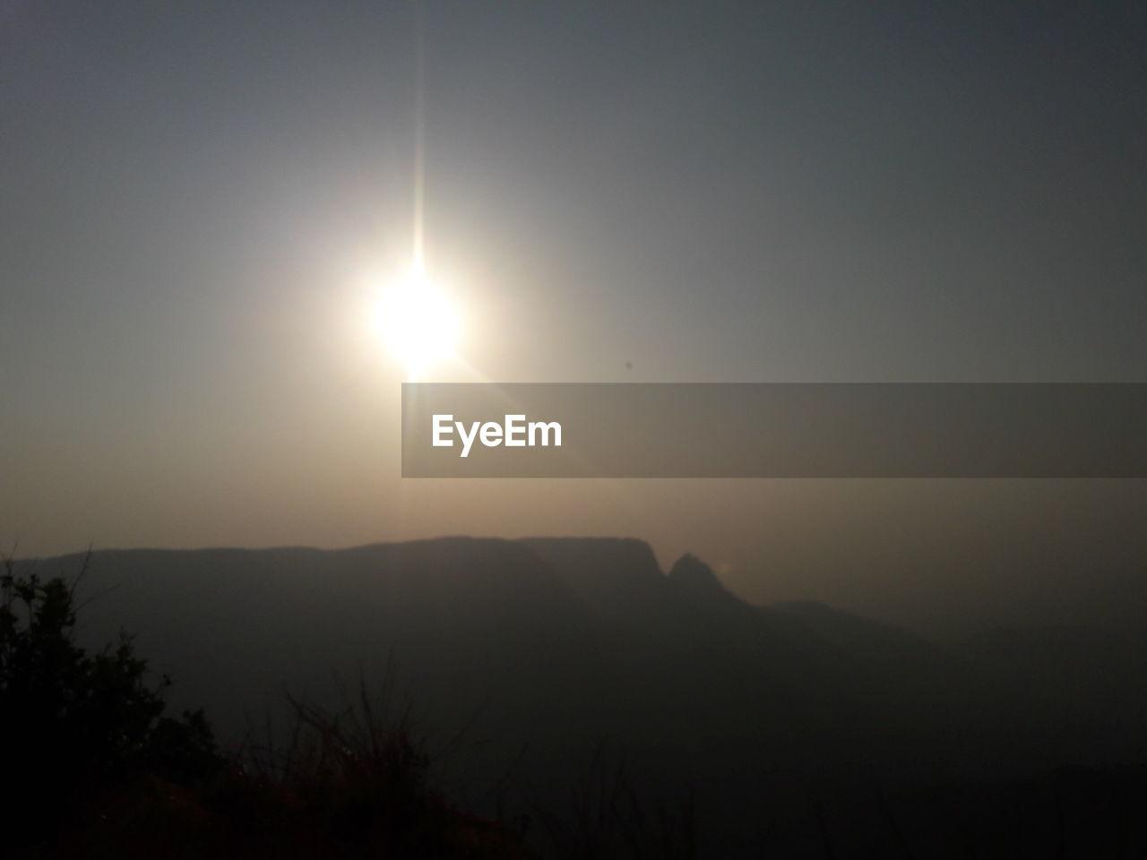 sun, nature, silhouette, beauty in nature, sunset, sunlight, scenics, no people, moon, outdoors, sky
