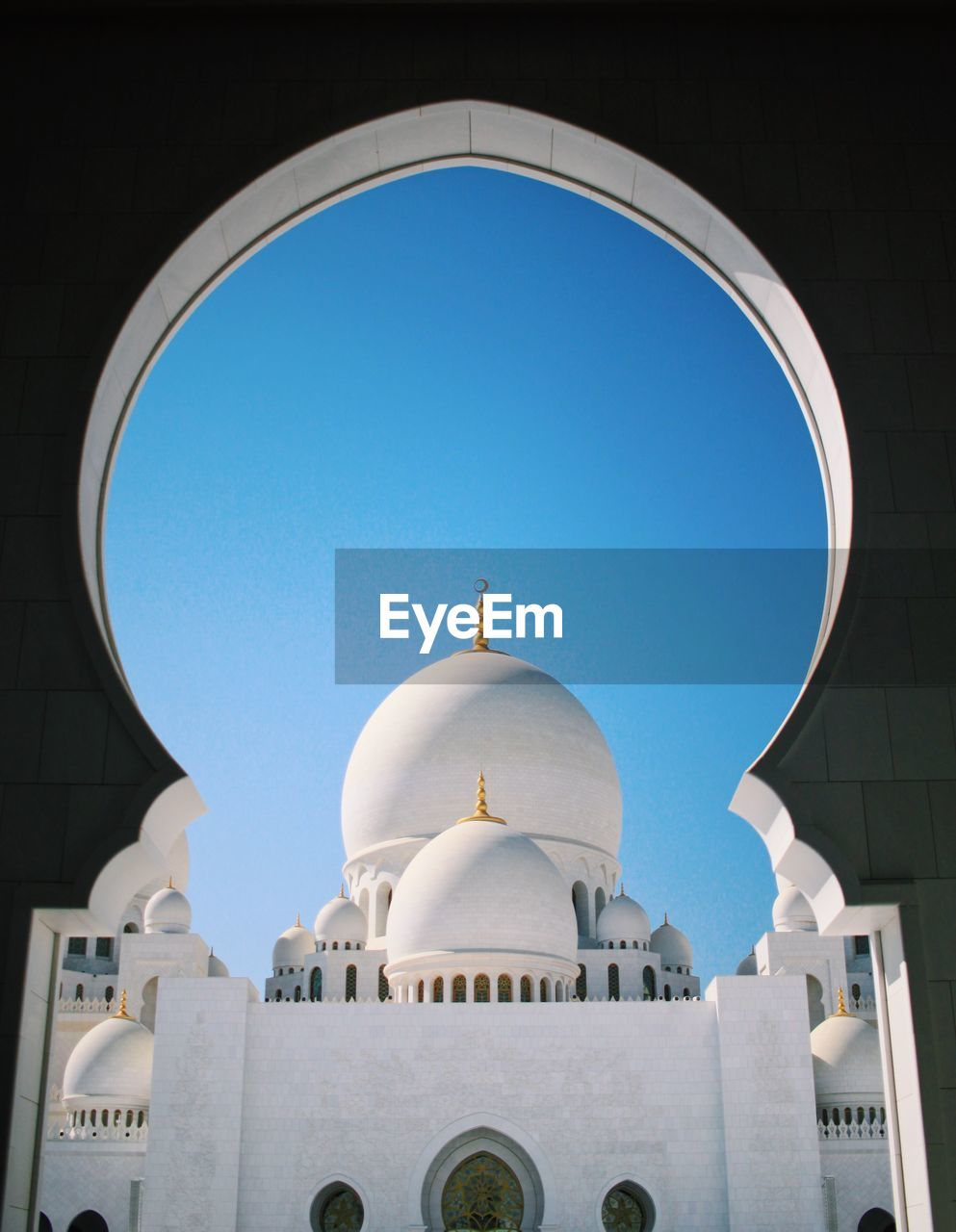 View of mosque against clear sky
