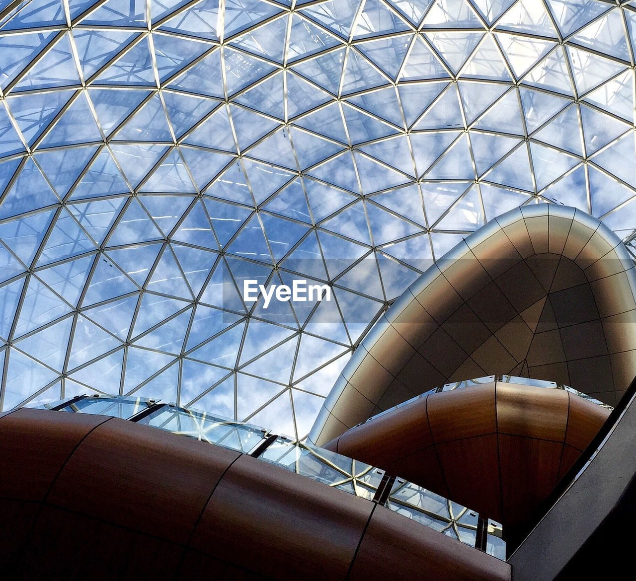 Interior of modern glass building