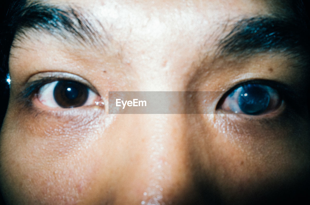 human eye, human body part, one person, close-up, eyebrow, human face, eyesight, portrait, looking at camera, eyelash, eyeball, indoors, iris - eye, real people, sensory perception, young adult, adult, day, people, adults only