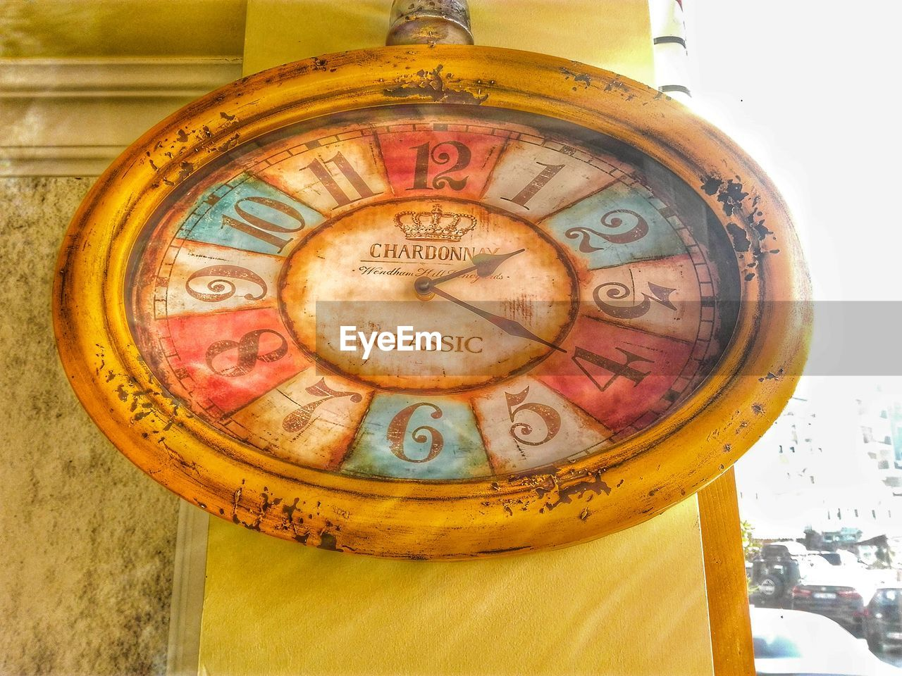 no people, text, close-up, antique, clock, indoors, time, roman numeral, day, minute hand, clock face