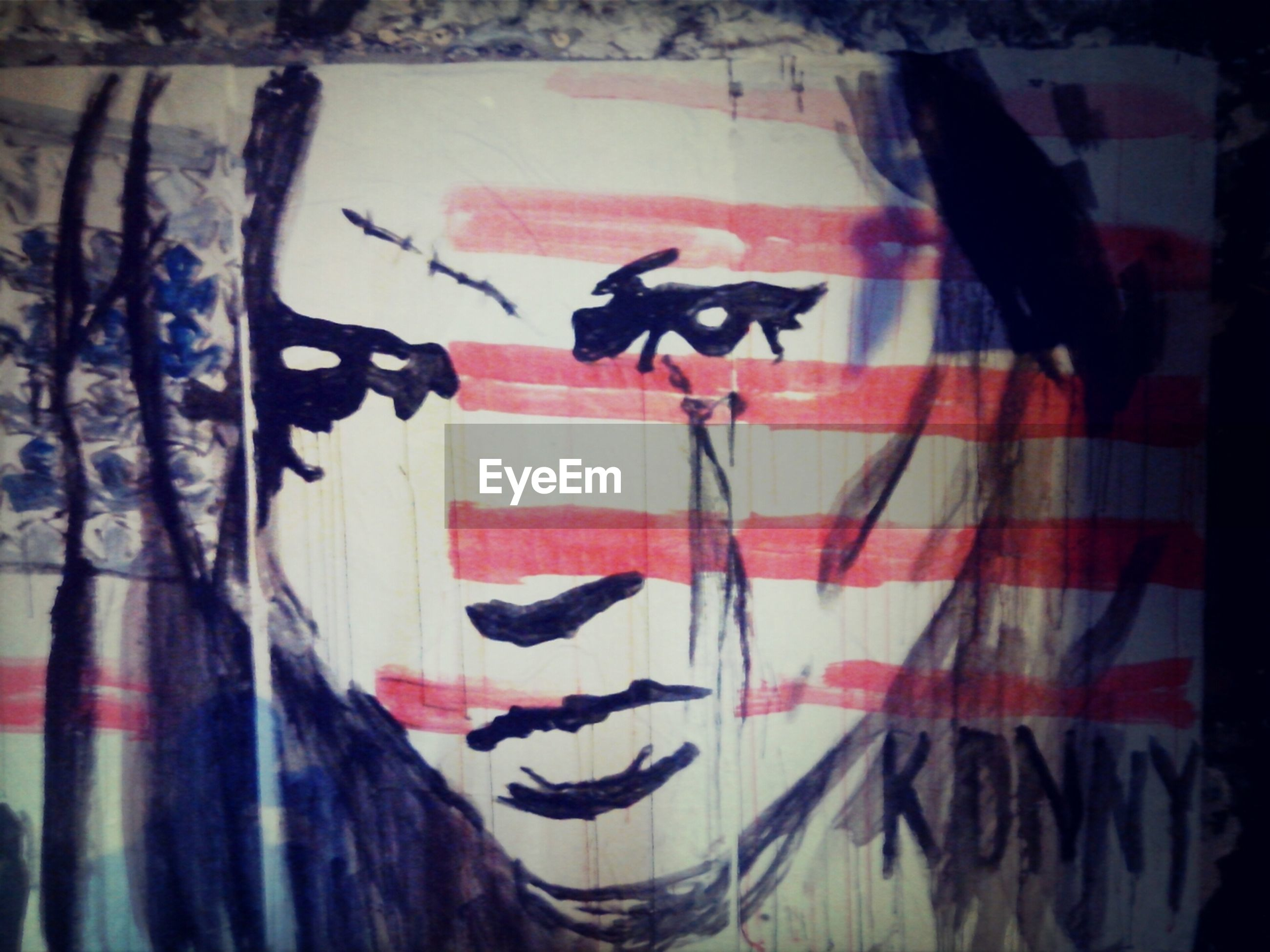 graffiti, art, creativity, art and craft, text, multi colored, western script, communication, patriotism, street art, flag, identity, wall - building feature, human representation, american flag, red, day, national flag, close-up, no people