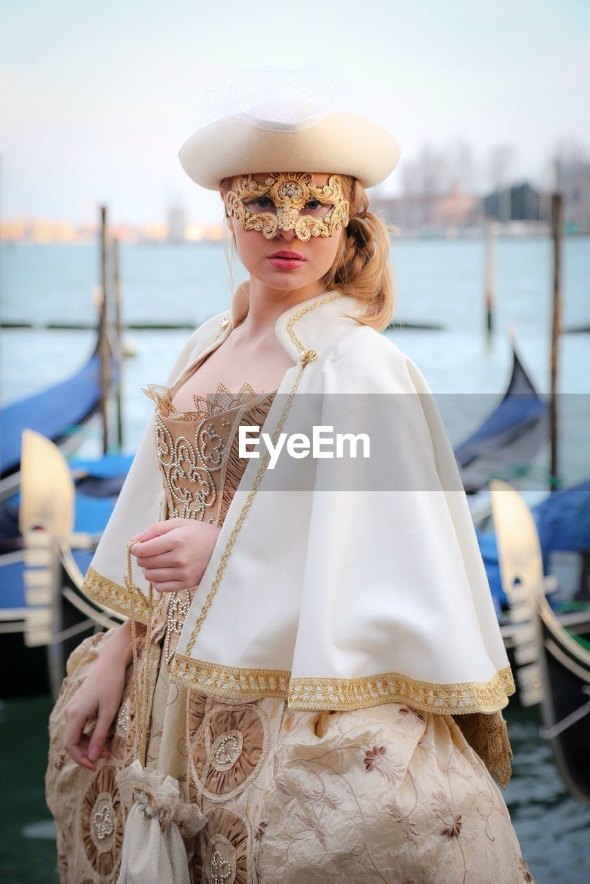 Portrait Of Woman In Carnival Costume