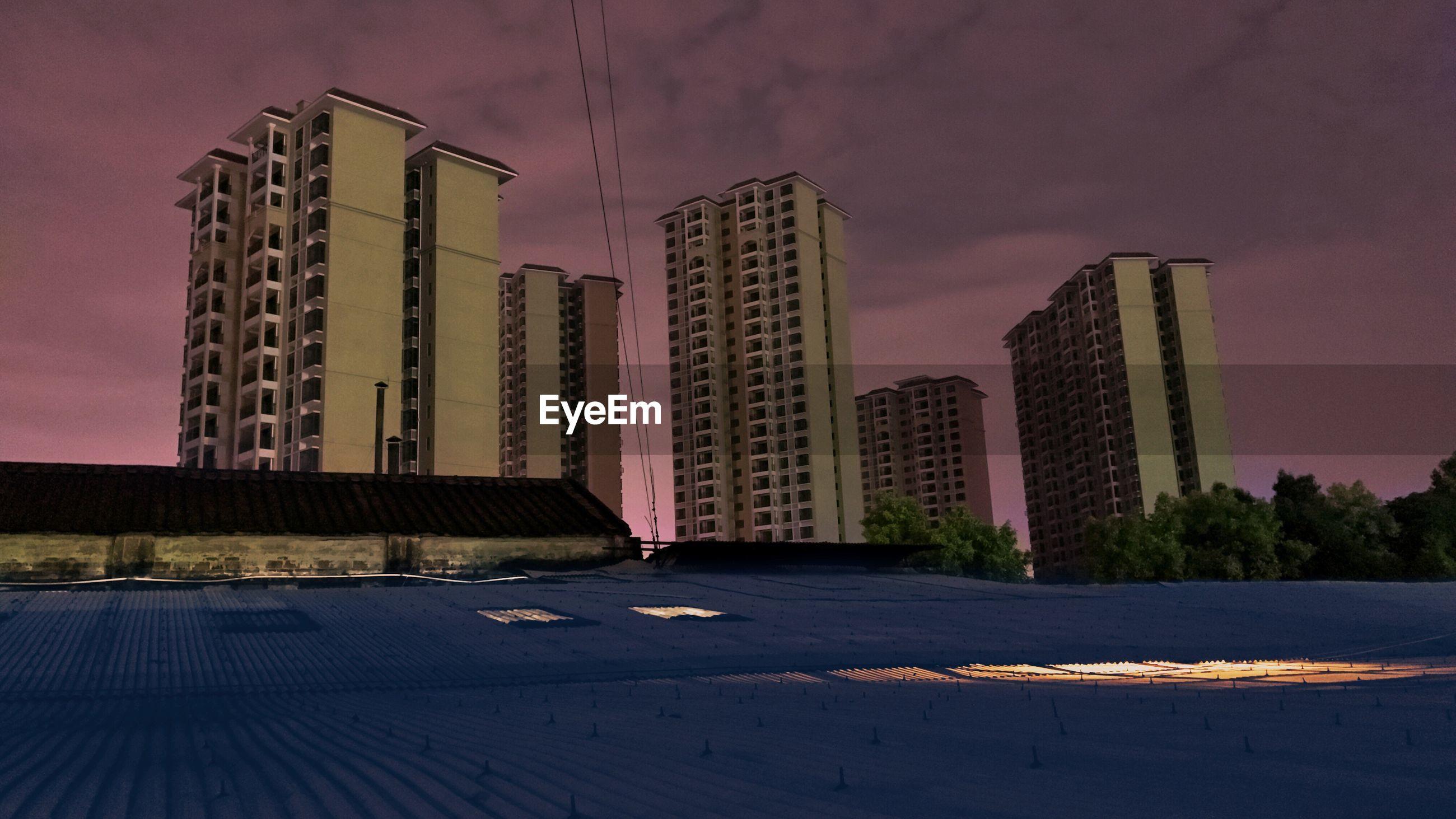 MODERN SKYSCRAPERS AGAINST SKY