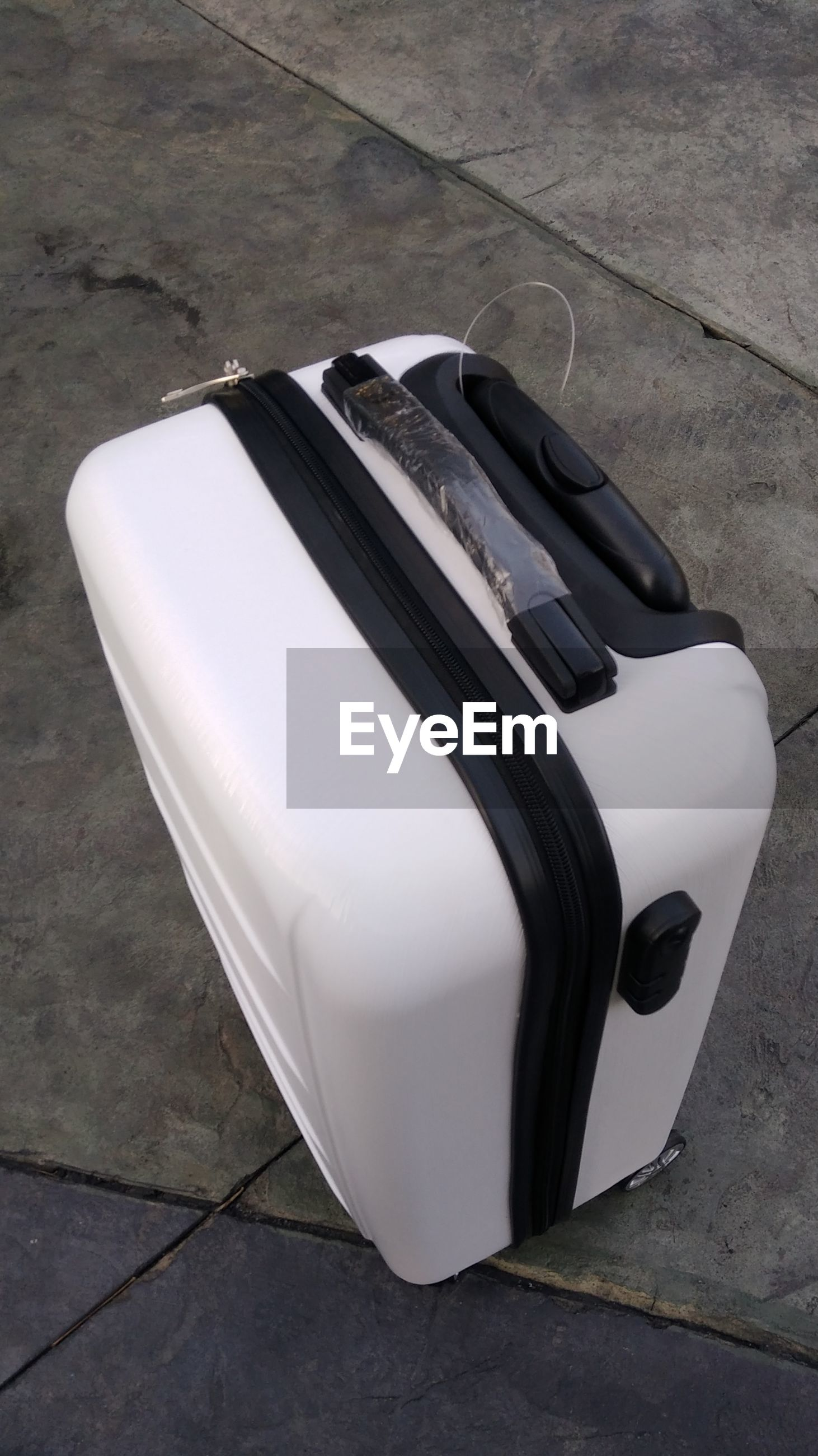 High angle view of luggage