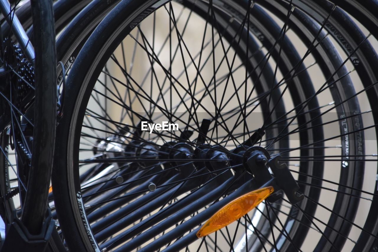 Full Frame Shot Of Bicycle Tires