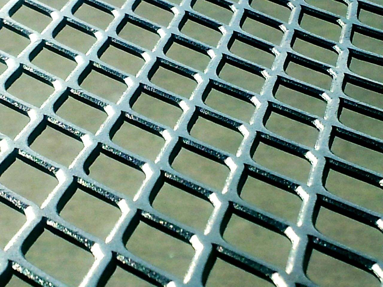 Close-up of metal grille