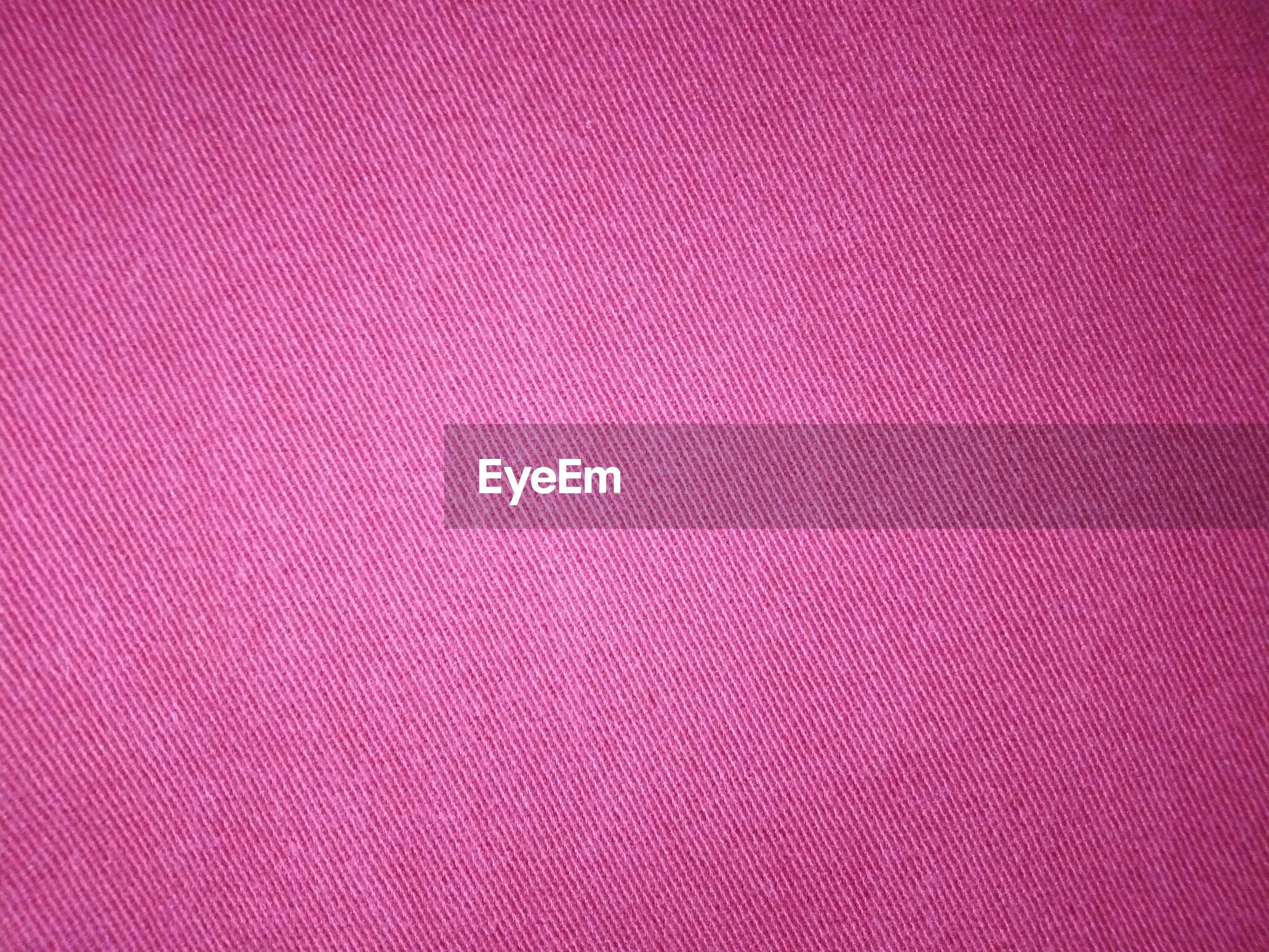 Full frame shot of pink fabric