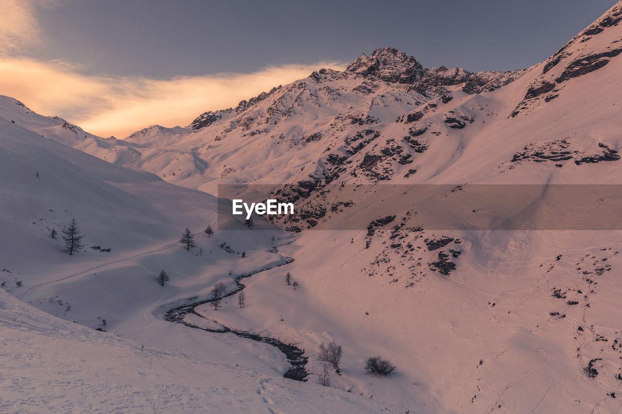 Landscape of queyras from the fonds de cervieres - paysage du queyras depuis les fonds de cervieres