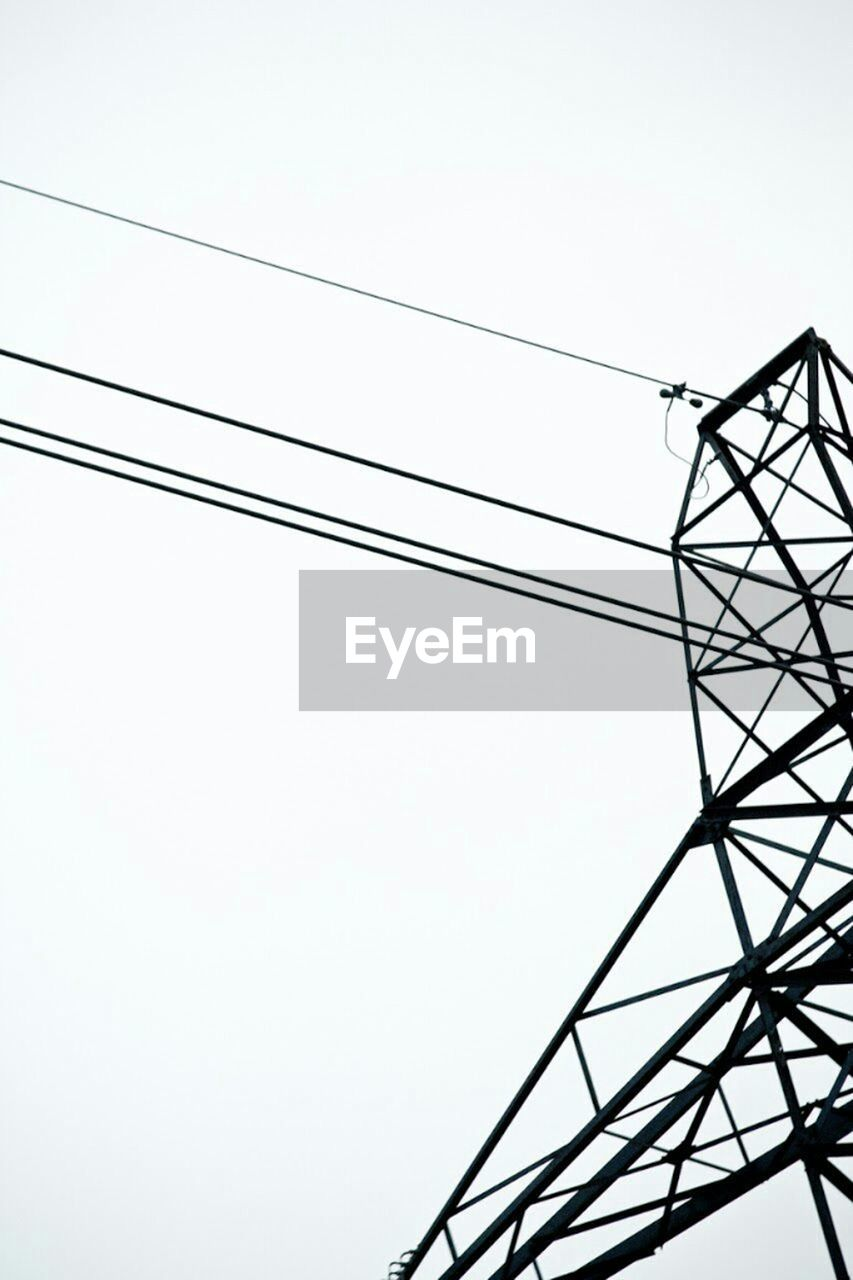 cable, power line, electricity, connection, power supply, low angle view, electricity pylon, technology, no people, clear sky, sky, outdoors, day, fuel and power generation