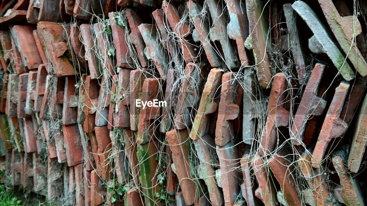 Stack Of Abandoned Roof Tiles