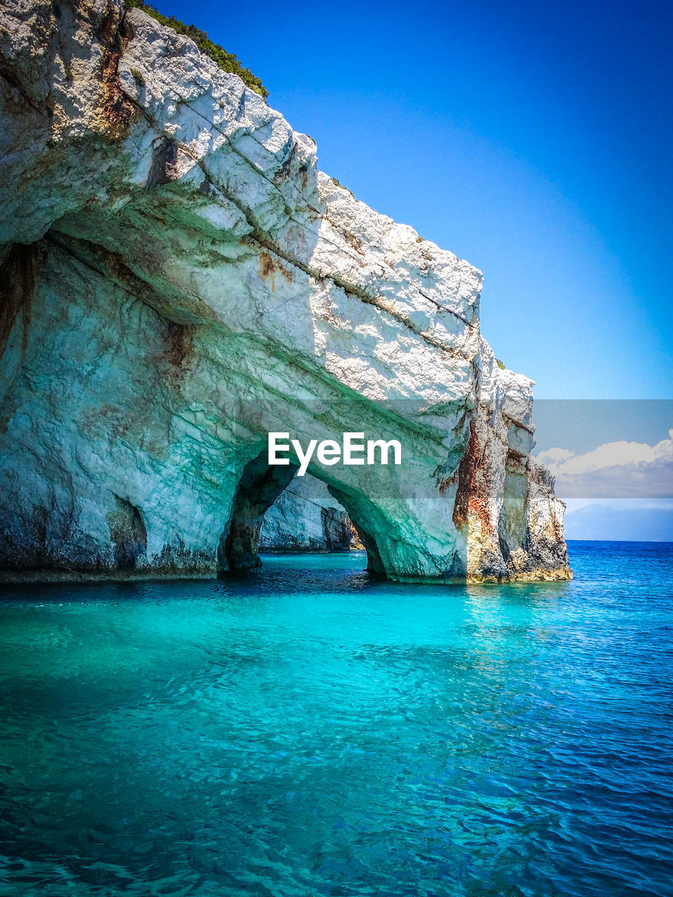 The blue caves on the greek ionian island of zakynthos