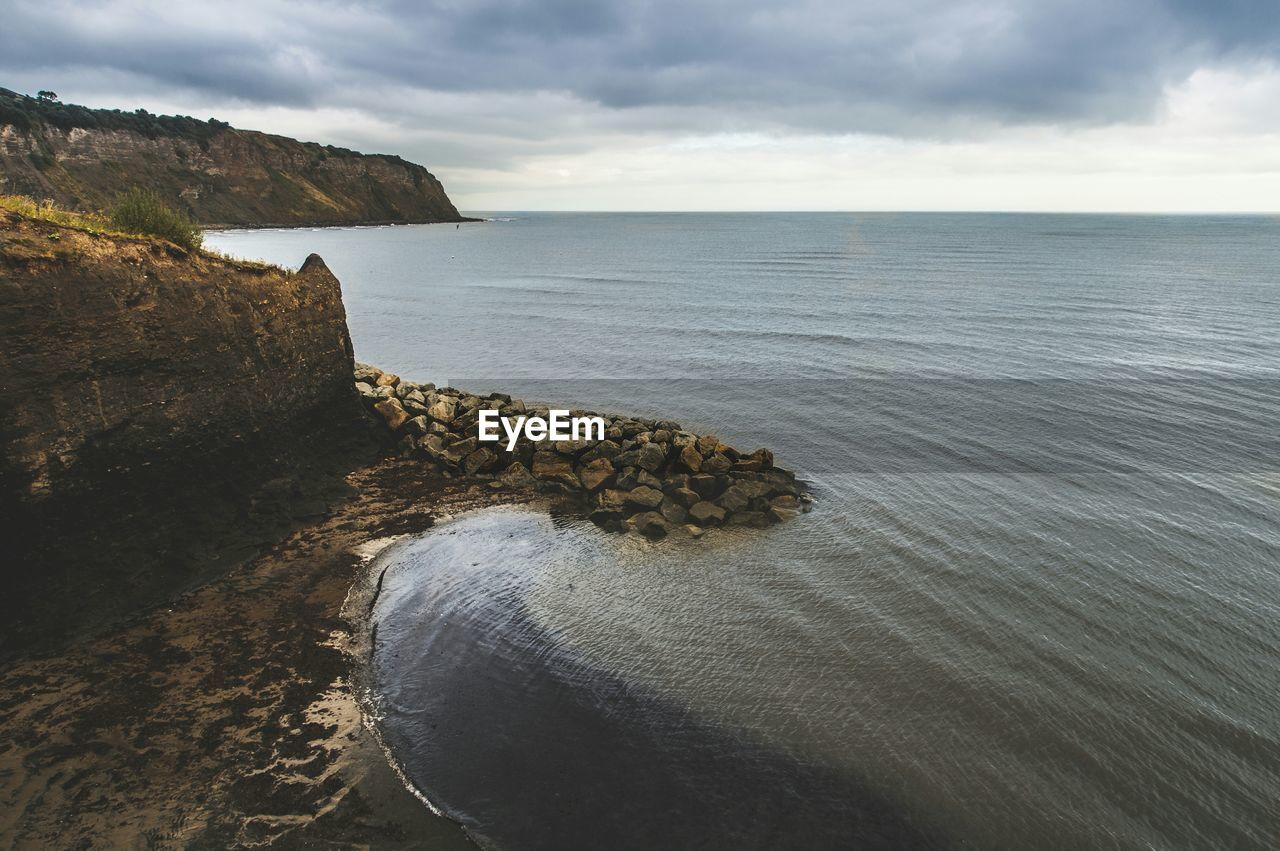 Idyllic Shot Of Sea Against Sky At Robin Hood Bay