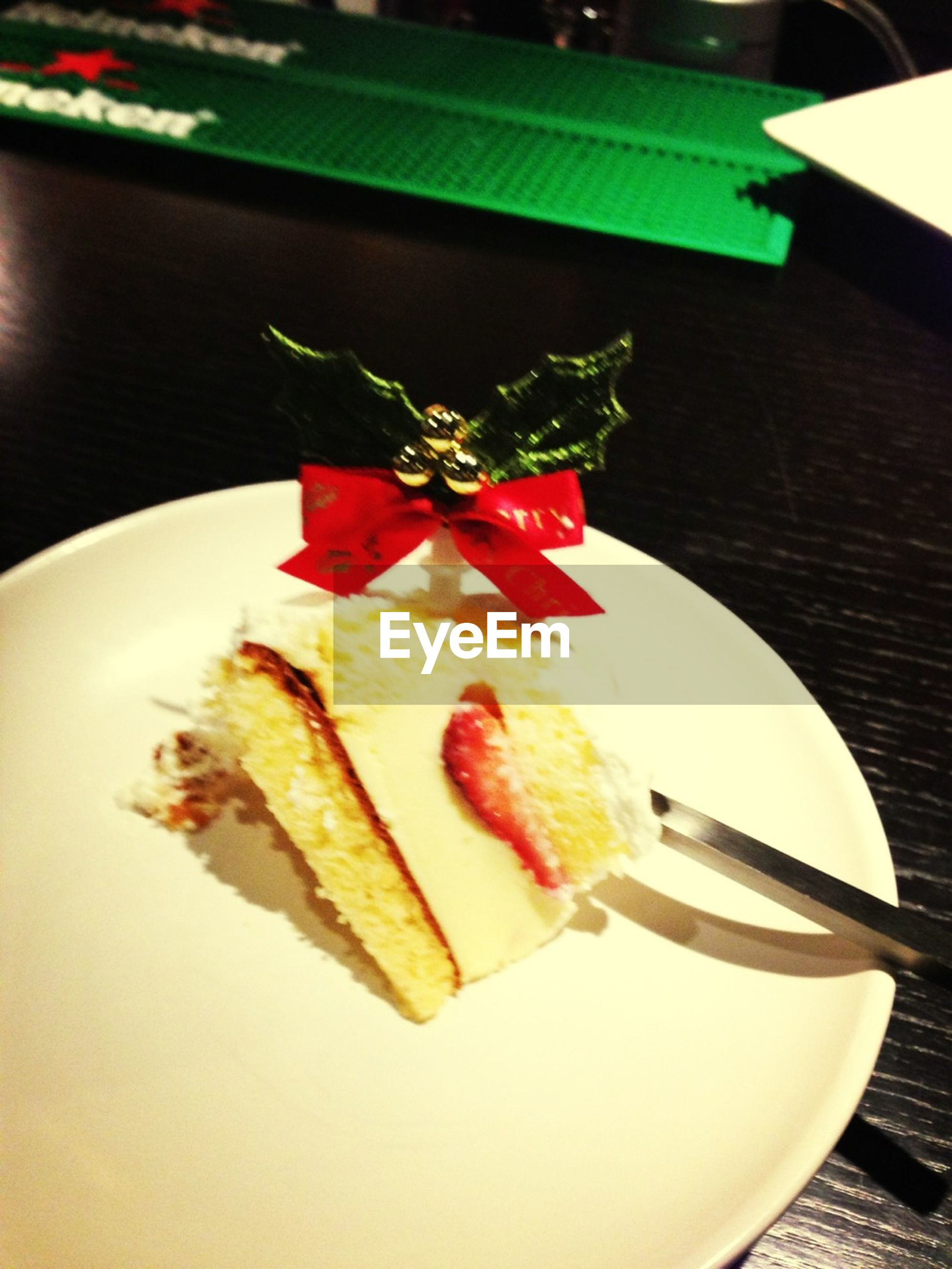 indoors, food and drink, table, plate, food, freshness, still life, sweet food, ready-to-eat, dessert, indulgence, cake, close-up, high angle view, unhealthy eating, decoration, serving size, temptation, focus on foreground, fork