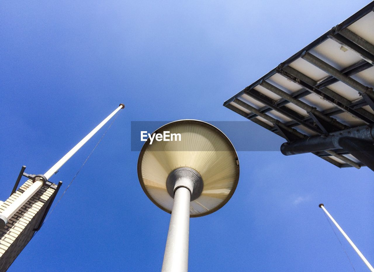 Low angle view of a street light