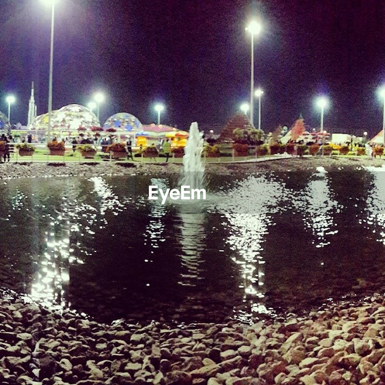 night, illuminated, water, outdoors, long exposure, no people, sky, nature