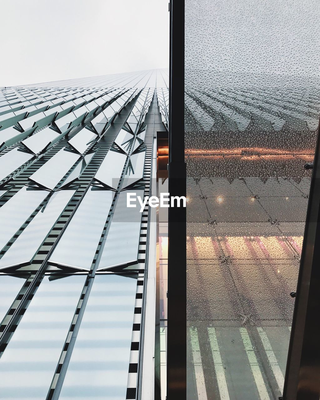 LOW ANGLE VIEW OF GREENHOUSE AGAINST SKY SEEN THROUGH METAL GRATE