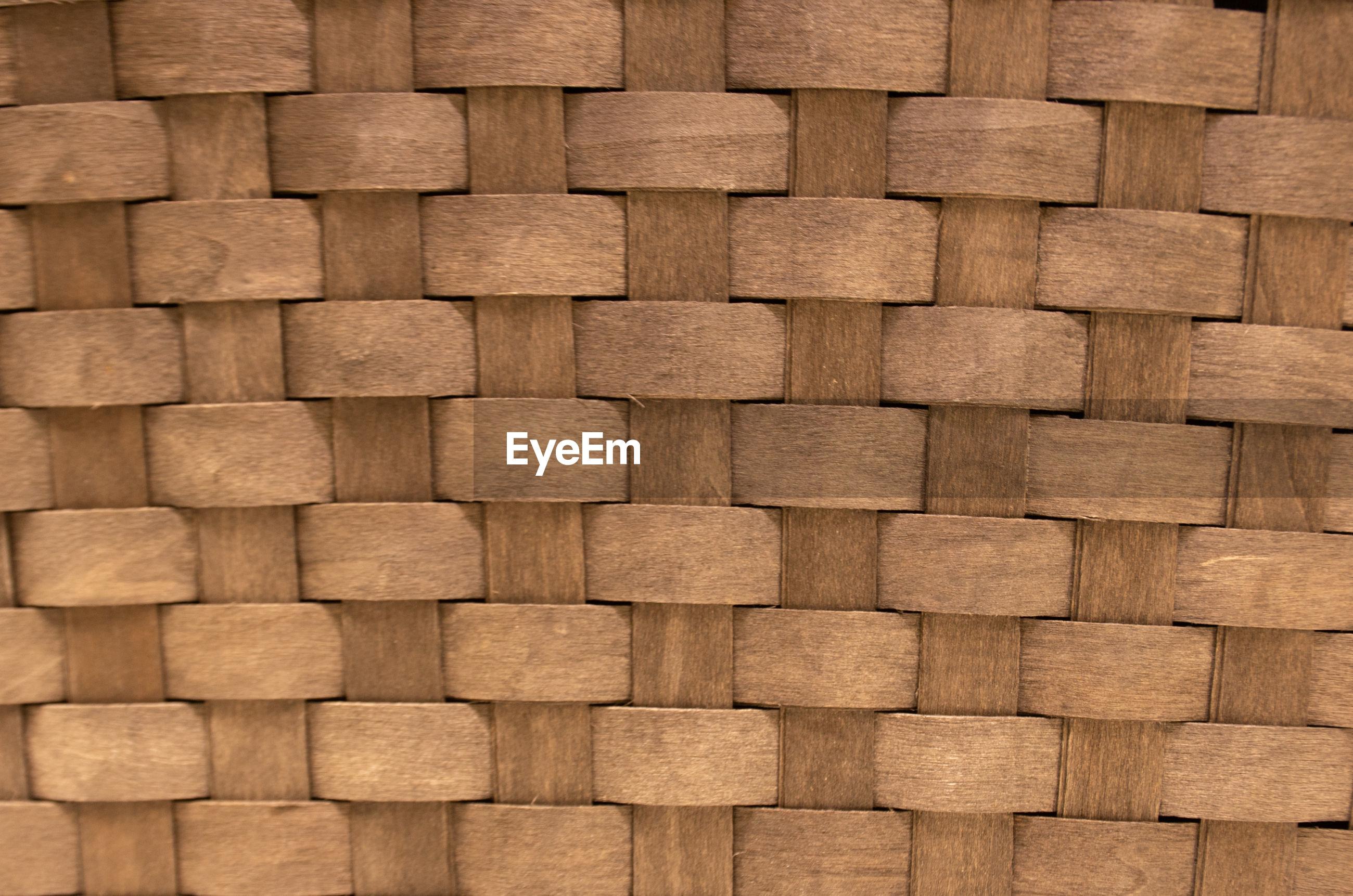 Full frame shot of braided wood