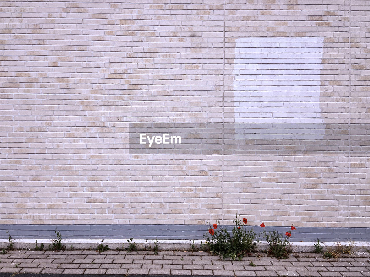 VIEW OF BRICK WALL BY WINDOW