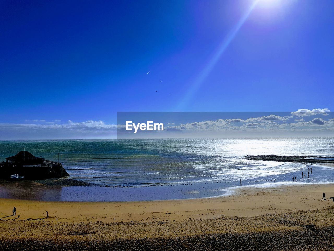 water, sea, sky, beach, land, beauty in nature, scenics - nature, horizon, blue, horizon over water, tranquil scene, tranquility, nature, idyllic, day, non-urban scene, no people, cloud - sky, sunlight, outdoors