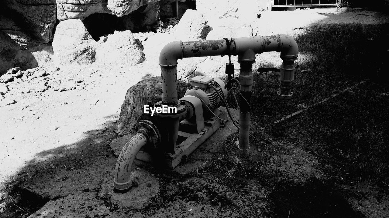 machinery, no people, day, outdoors, water