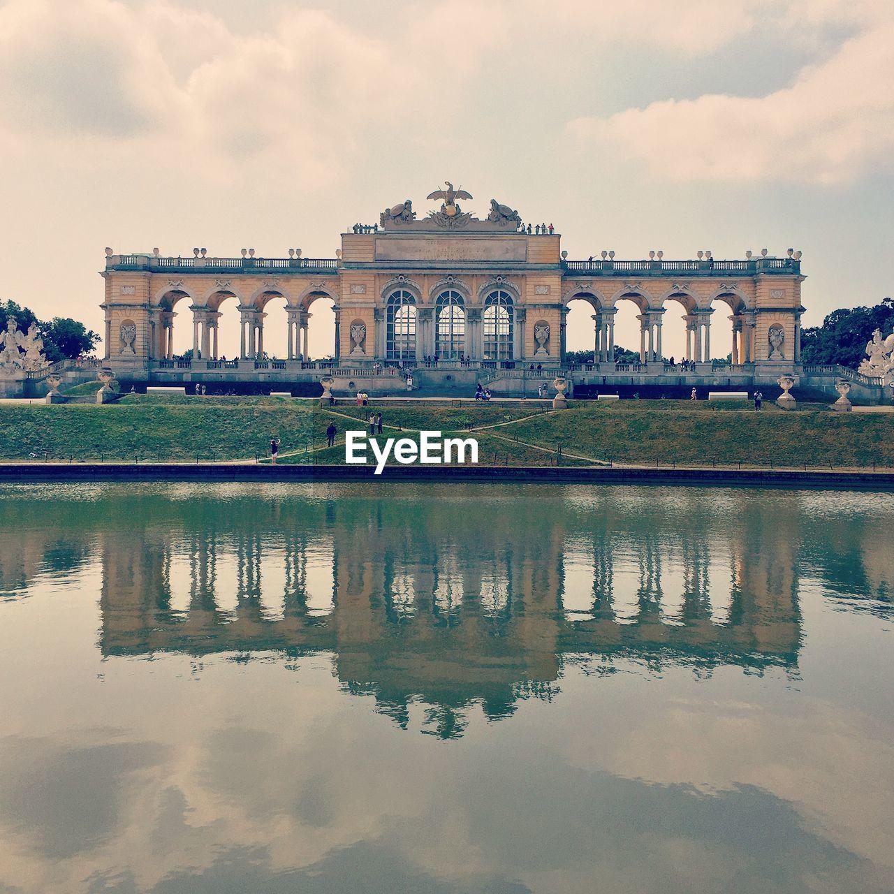 Scenic view of schonbrunn palace garden gloriette